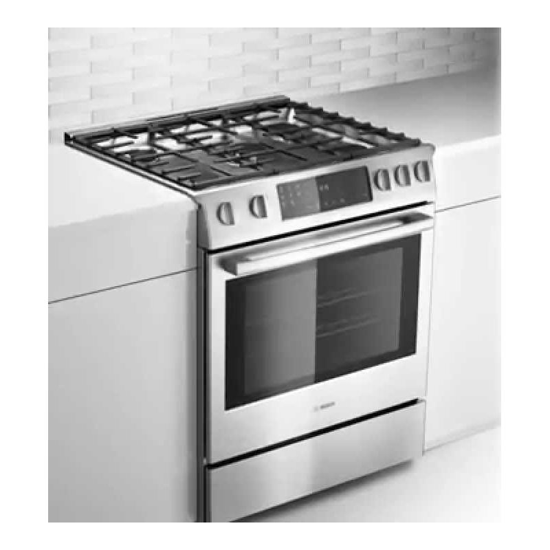 Bosch Hgi8054uc 30 Inch 800 Series Gas Slide In Range Oven View Larger Image