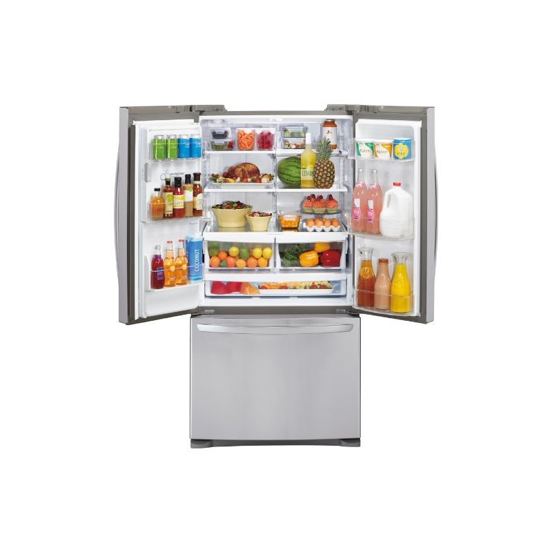 french refrigerators refrigerator door steel stainless platinum doors in built cu ft interior refrigeration