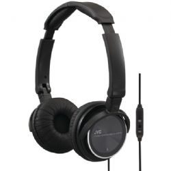 Jvc On-ear Headphns W/mic Blk