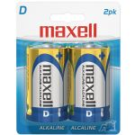 Maxell D 2pk Carded Batteries-