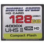 Digital Speed 4000X 128GB Professional High Speed Mach III 600MB/s Error Free (CF) HD Memory Card